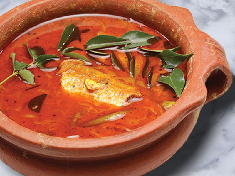 Kerala Style Fish Curry in a Clay Pot