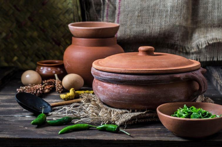 10 inch currypot Clay Curry Pot