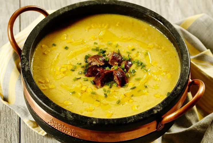 Brazilian Corn Chowder Sopa de Milho Verde by Denise Browning FromBrazilToYou Org  1