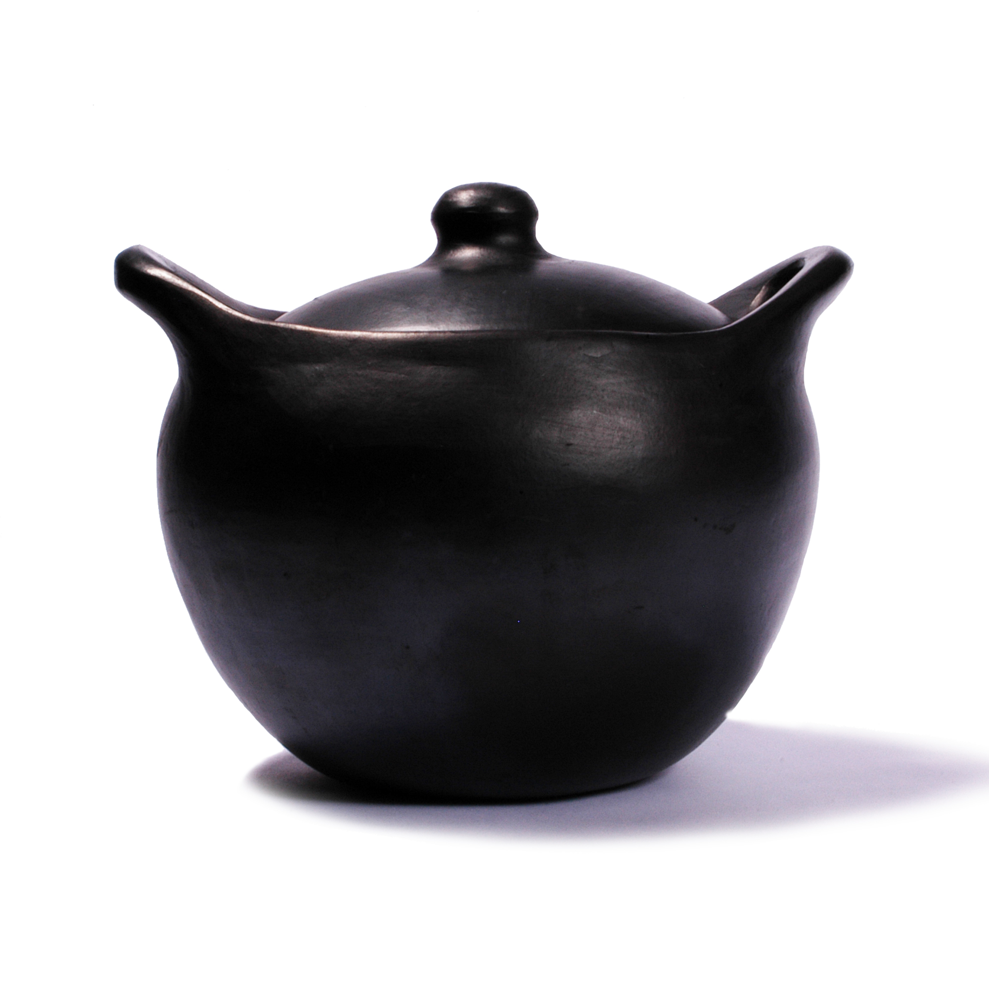 Black Clay, La Chamba Rounded Soup Pot