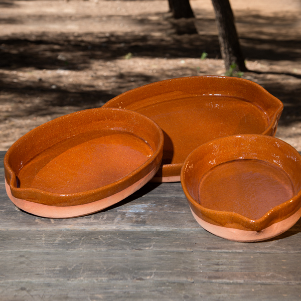 Spanish Clay Oval Roasting Pan