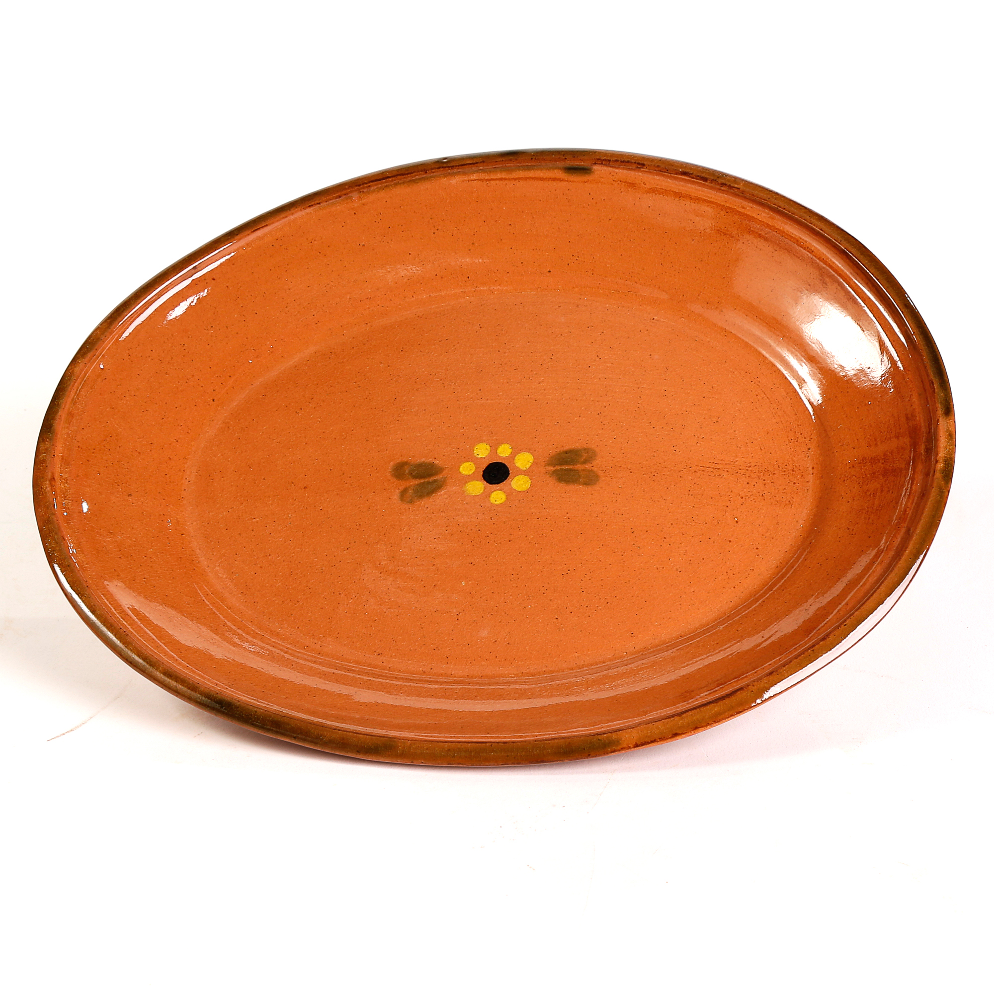 Mexican Clay Oval Plate
