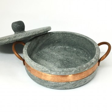 Brazilian Soapstone Low Pot