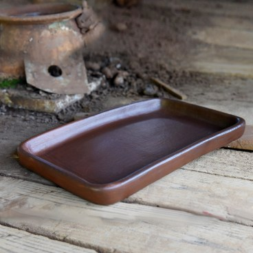 Pomaireware Rectangular Clay Sushi Tray