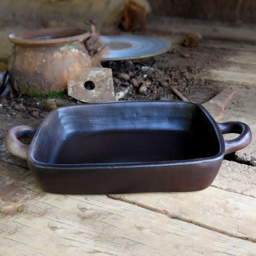 Pomaireware Rectangular Clay Roasting Pan
