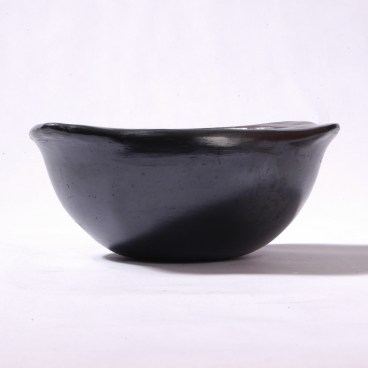 Black Clay, La Chamba Soup Bowl with Square Handles