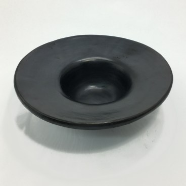 Black Clay, La Chamba Broadrimmed Bowl