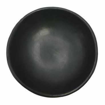 Black Clay, La Chamba Deep Plate with Exotic Fruit