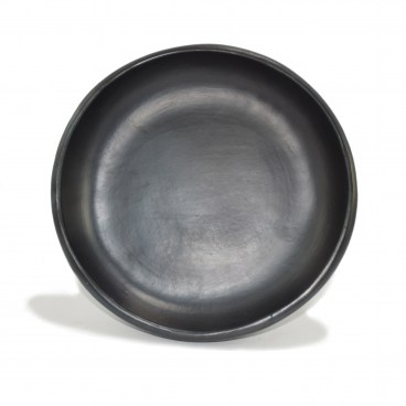 Black Clay, La Chamba Round Serving Dish