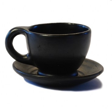 Black Clay Coffee Cup