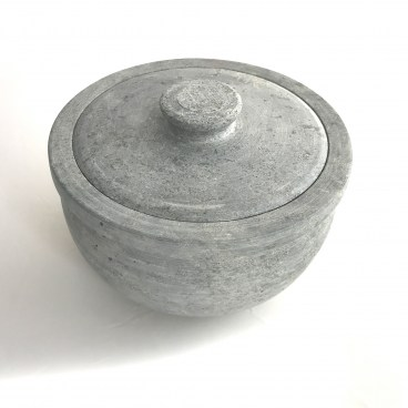 Indian Soapstone Curd Pot