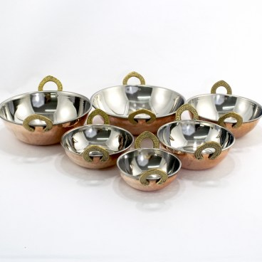Indian Hammered Copper Kadhai