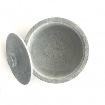 Indian Soapstone Covered Pot