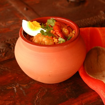 Indian Clay Biryani Pot