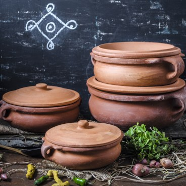 Indian Clay Curry Pots