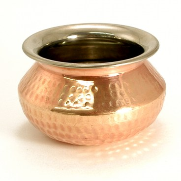 Indian Hammered Copper Punjabi Handi