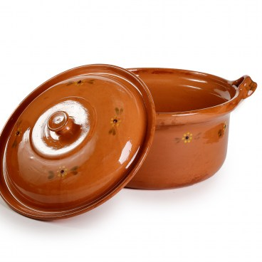 Mexican Lidded Cazuela - Extra Large